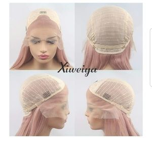 boutique Accessories - Nwt 24in Rose Gold synthetic fiber wig.